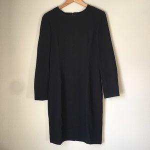 J. C r e w // Wool Black Dress